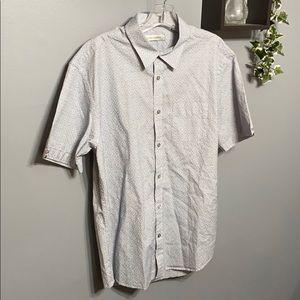 Men's James Campbell Button Down Shirt sz L